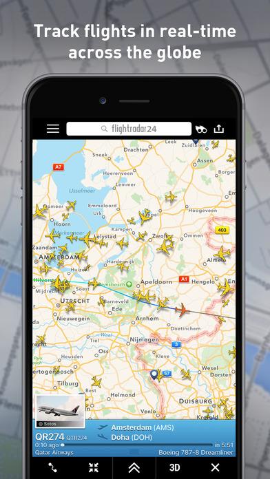 Flighradar24 - Le migliori app per viaggiare
